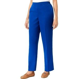 Alfred Dunner Blue Straight Leg Chino Pants